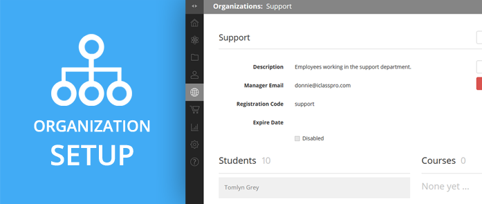 iLearnPro Support Image for Organization Setup