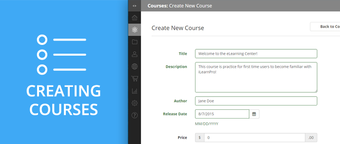 iLearnPro Support Image for Creating Courses