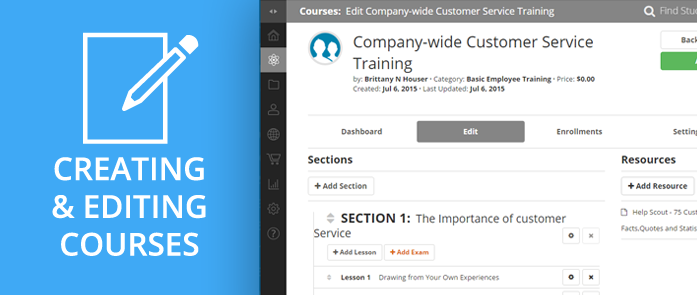iLearnPro Support Image for Creating and Editing Course Content