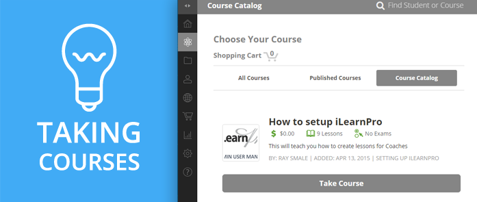 iLearnPro Support Image for Taking Courses